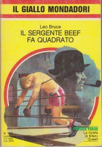 Leo Bruce : Il sergente Beef fa quadrato (Case with Ropes & Rings, 1940) - trad. M.L.Bocchino - Il Giallo Mondadori N°1931 del 1986